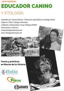 Curso presencial Educador canino y Etología en Málaga